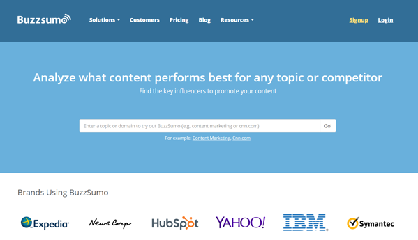 Buzzsumo SEO marketing tool