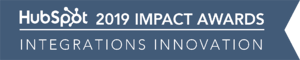 HubSpot Impact Awards 2019 Integrations Innovation