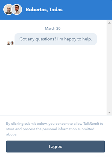 HubSpot's Live-Chat integration