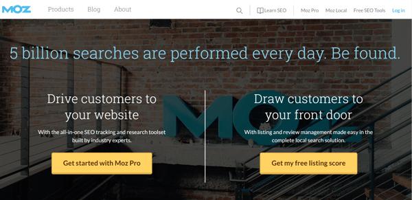 Moz SEO marketing tool