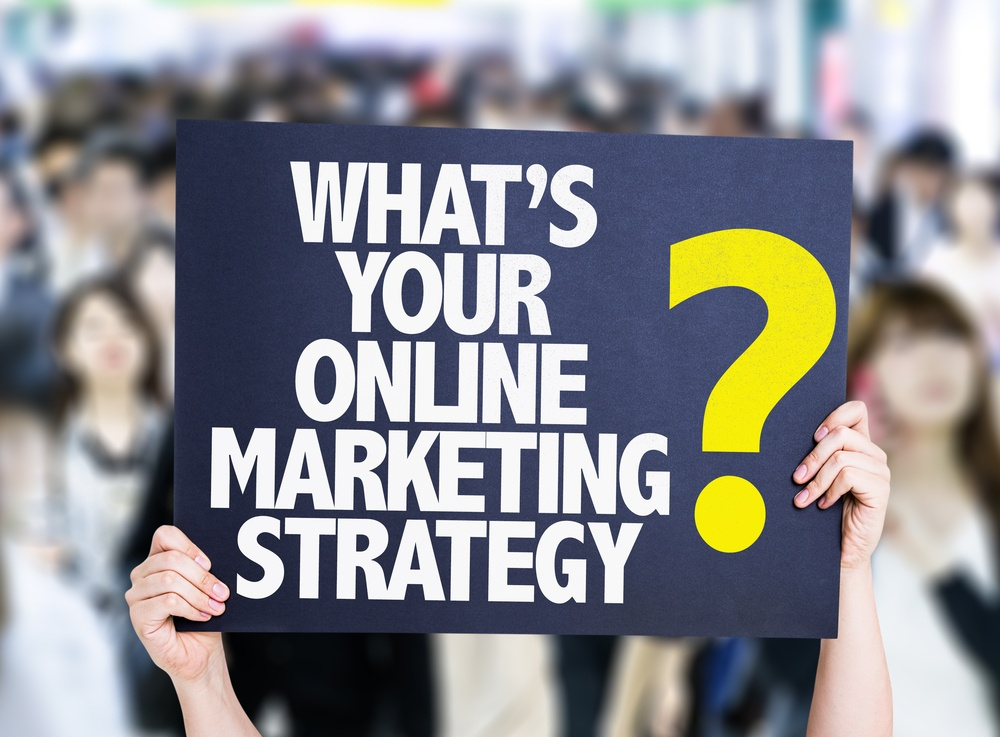 Whats Your Online Marketing Strategy? card with crowd of people on background.jpeg