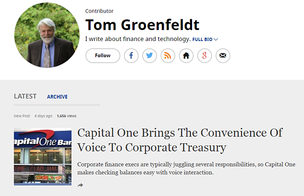Tom Groenfeldt Blog