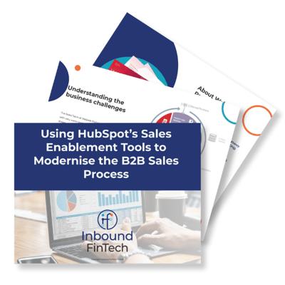 B2B Sales Enablement Case Study cover - Inbound FinTech