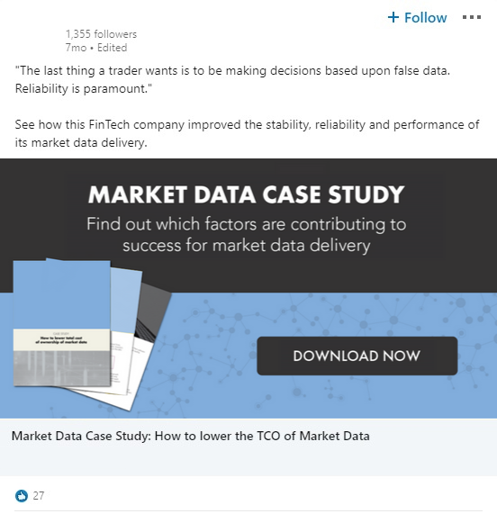Financial Services marketing case study - IFT