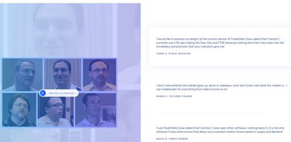 Tradeguider customer testimonials on new website | HubSpot CMS