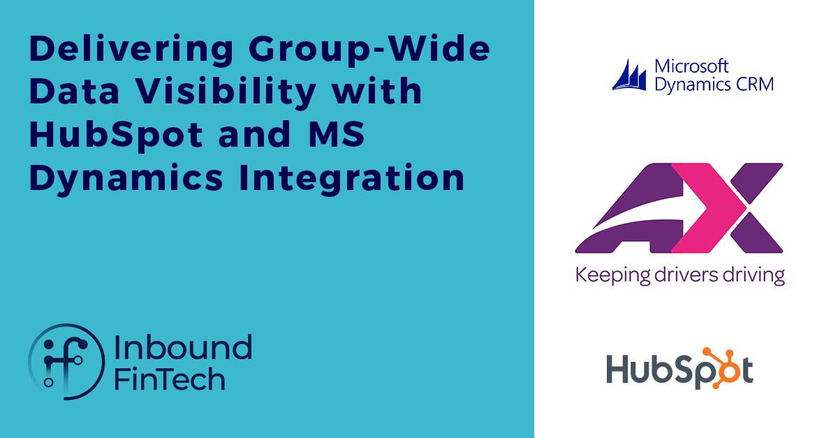 HubSpot & MS Dynamics integration project   Inbound FinTech & AX