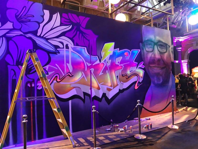 Hypergrowth London 2019 graffiti