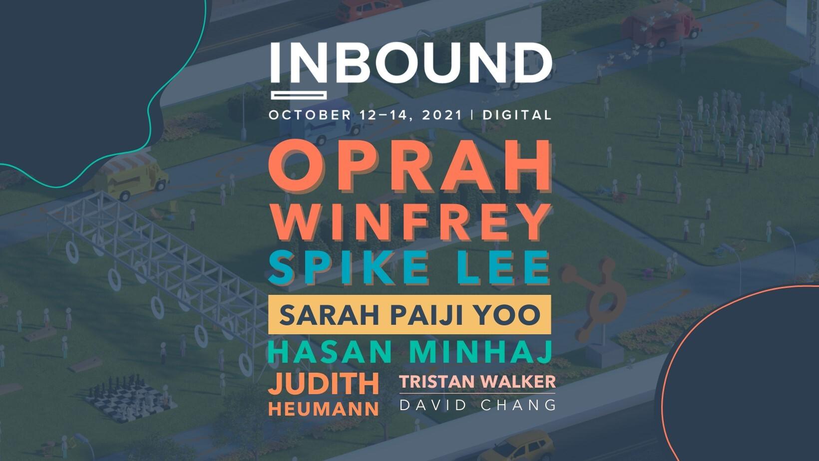 Inbound 2021 HubSpot Event Speakers | Inbound 2021 Preview Blog