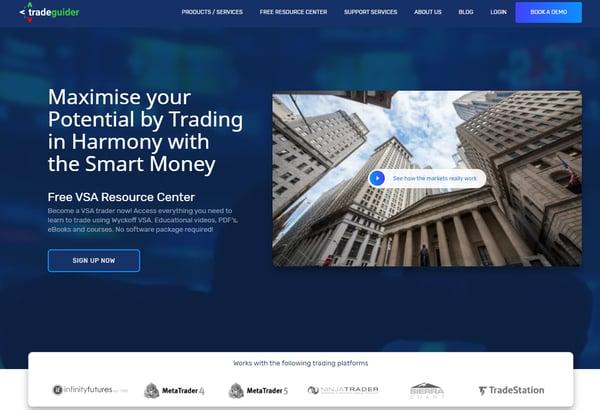 New Tradeguider homepage | HubSpot CMS build - Inbound FinTech
