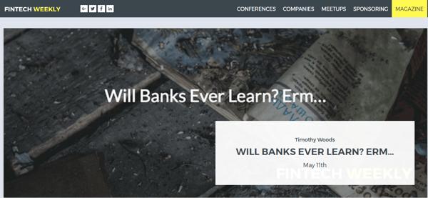Fintech Weekly Blog